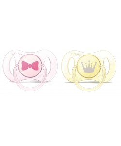 Avent Mini Soother 0-3M (Girl) -Twin Pack