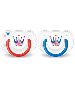 AVENT CLASSIC SOOTHER 6-18M (TWIN PACK) - ROYAL EDITION