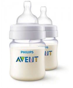 AVENT PA Classic + Feeding Bottle 125ml/4ozTwin (Twin Pack)