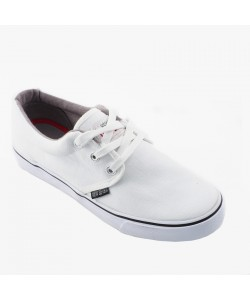 NEW SEVEN Unisex Round Toe Low Top Canvas Comfort School Shoes White