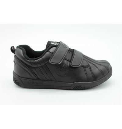 NEWSTAR Children Round Toe Low Top Leather Comfort School Shoes Black