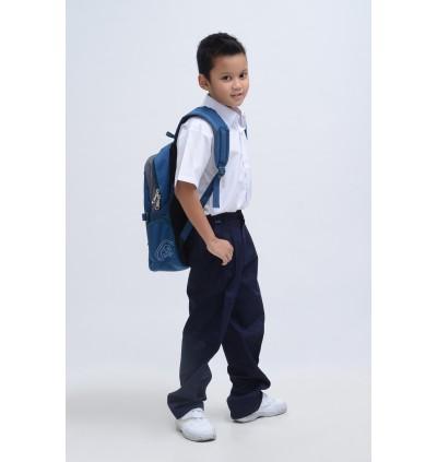 BINBI Primary School Uniform Boy Short Sleeve White Shirt (Koshibo)