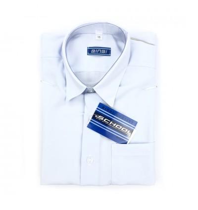 BINBI Secondary School Uniform Boy Short Sleeve White Shirt (Koshibo)