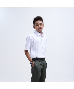 BINBI Secondary School Uniform Boy Short Sleeve White Shirt (Koshibo)