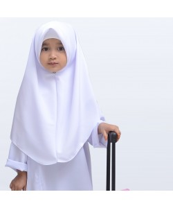 BINBI Primary School Uniform Girl White Baju Kurung (Koshibo)