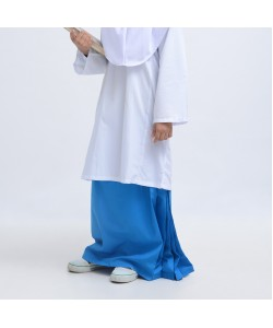 BINBI Secondary School Uniform Girl Blue Kain Sarung (Koshibo)