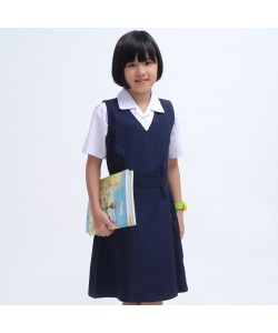 BINBI Primary School Uniform Girl Pinafore Dress