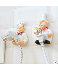 Kitchen Plug/ Socket Power Holder Wall Adhesive Hook Twin Pack (Ready Stock)