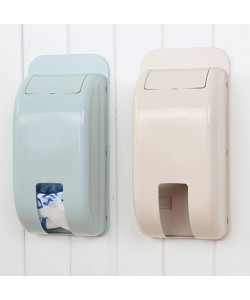Plastic Wall Sticky Garbage Bag Storage Box (Ready Stock)