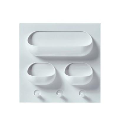 Multi Function Wall Sticking Kitchen Bathroom Storage Rack (Ready Stock)