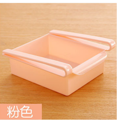 Kitchen Plastic Flame Refrigerator Partition Storage Rack Drawer Twin Pack (Ready Stock)