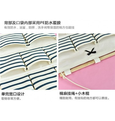 Storage Wall-mounted Cotton Linen Hanging Bag (Ready Stock)