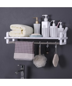 Punch-Free Seamless Wall-Mounted Bathroom Storage Rack (Ready Stock)