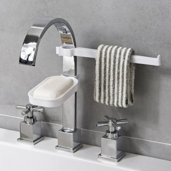 Faucet Drain Storage Stand Kitchen Sponge Cloth Rag Holder (Ready Stock)