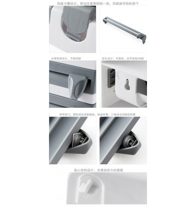Kitchen Wall Hanging Wrap Cutting Paper Towel Holder (Ready Stock)