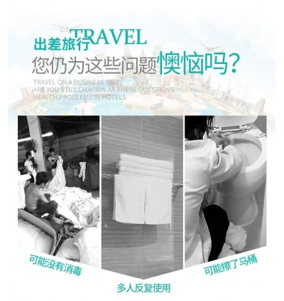 Travel Disposable Bath Towel and Hand Towel Twin Pack (Ready Stock)