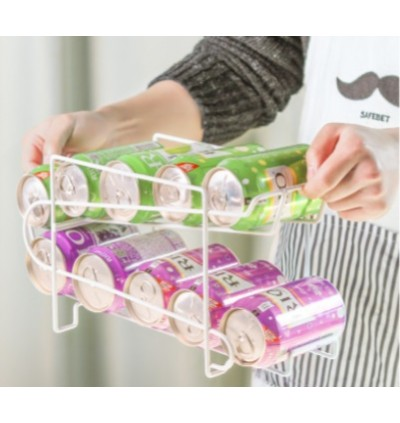 Kitchen Household Refrigerator Drink Double Rack (Ready Stock)