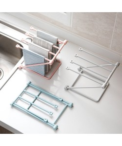 Collapsible Vertical Rag Kitchen Towel Rack (Ready Stock)