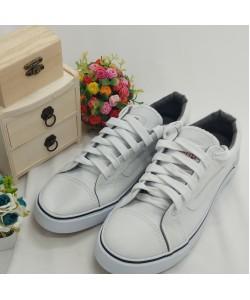 NEW SEVEN Unisex Round Toe Slip On Canvas Comfort School Shoes White
