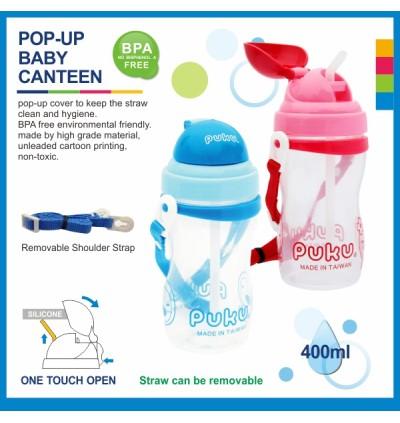 PUKU Baby Canteen 400CC Blue/Pink