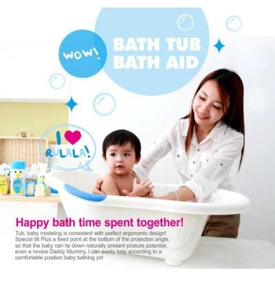 PUKU Antibacterial Bath Tub-L Blue/Pink