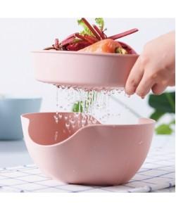 Multi Function Drain Basket Fruit Bowl (Ready Stock)