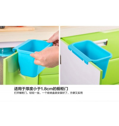 Cabinet Door Hanging Trash Can Garbage Storage Box White (Ready Stock)
