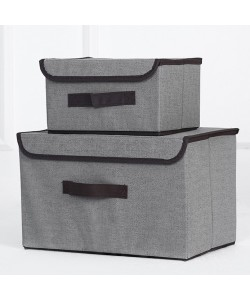 Fordable Two-Piece Storage Box Grey (Ready Stock)