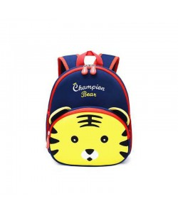 Unisex Children Champion Bear Tiger Backpack Dark Blue