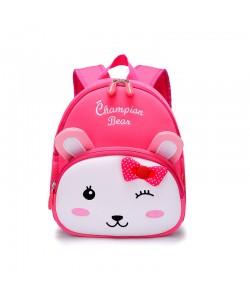 Girl Children Champion Bear Rabbit Backpack Pink