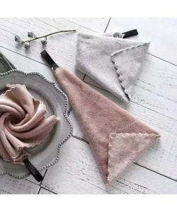 Superfine Fiber Dish Cloth Twin Pack Grey+Pink (Ready Stock)