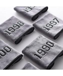 Superfine Fiber Years Bath Towel Grey (Ready Stock)