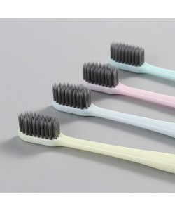 Soft Slim Charcoal Toothbrush 4 Pcs (Ready Stock)