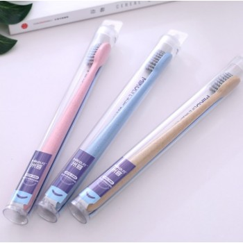 MIKO Life Soft Wheat Straw Charcoal Toothbrush (Ready Stock)