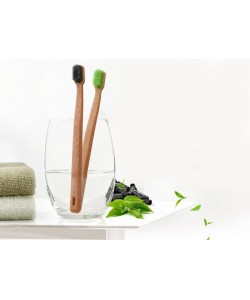MIKO Life Solf Green Tea / Charcoal Toothbrush 2Pcs (Ready Stock)