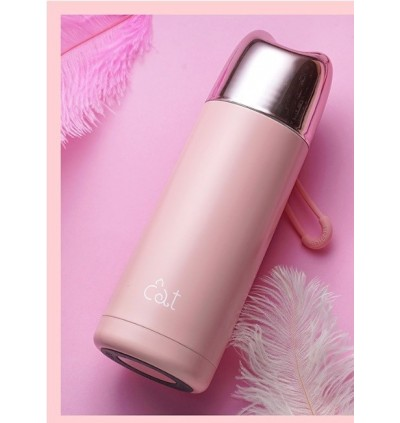 Blonde Kitty Stainless Steel Thermos 370ml (Ready Stock)