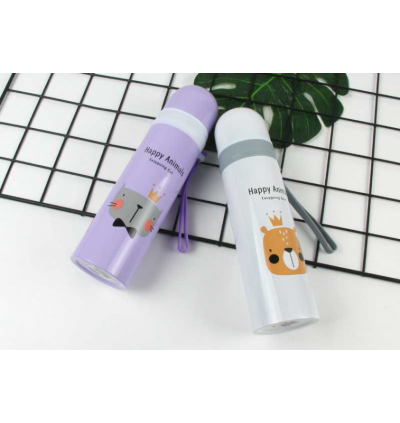Happy Animals Stainless Steel Thermos 350ml (Ready Stock)
