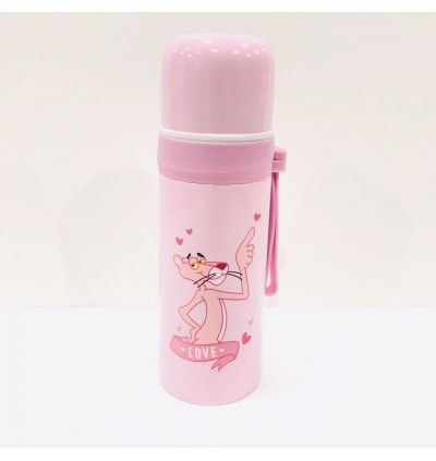 Pink Panther Stainless Steel Thermos 350ml (Ready Stock)
