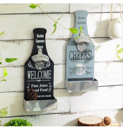 Decorative Wooden Bottle Opener Wall Hangings (Ready Stock)