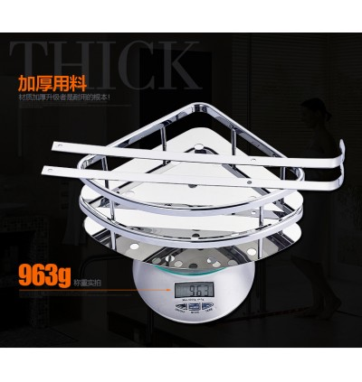 304 Stainless Steel Bathroom Shelf Toilet Tripod Basket (Ready Stock)