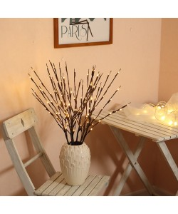 Decoration Warm White Lighted Twig Branches (twin pack)  (Ready Stock)