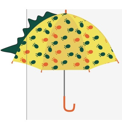 Enbi House 3D Children Umbrella (Dinosaur) Yellow (Ready Stock)
