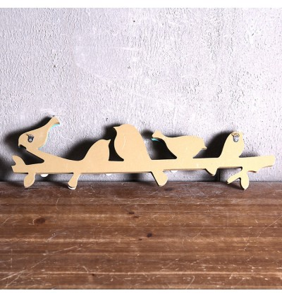 Creative Decoration Wooden Wall Coat Hanging (Ready Stock)