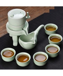 Celadon Stone Grinding Automatic Tea Set (Ready Stock)