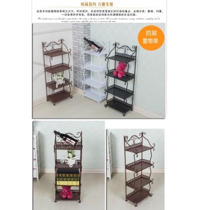 European-Style 4 Layer Multipurpose Storage Rack (Ready Stock)