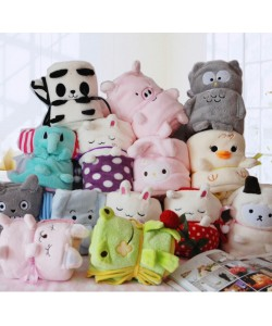 Cartoon Animal Blanket Folding Blanket (Ready Stock)