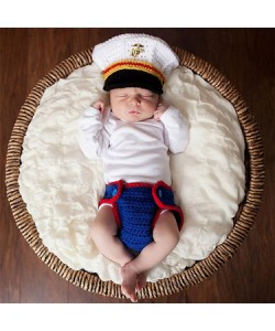 Newborn Baby Police Uniform Baby Photography Suit (Ready Stock)