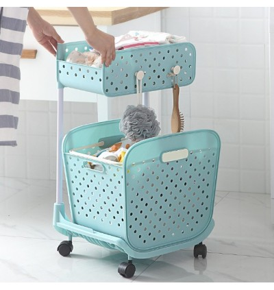 Trolley Laundry Plastic Dirty Clothes Bucket (Ready Stock)
