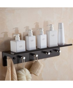 Black Aluminum Towel Rack Bathroom (Ready Stock)