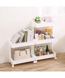 Japanese Style 3 Tier Trolley Multipurpose Home Storage Rack (Ready Stock)